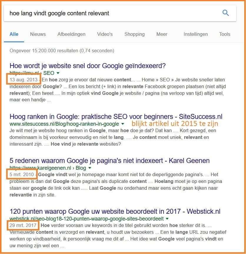 Google content relevant
