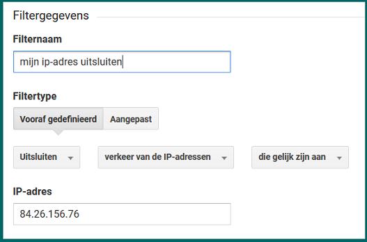 Google Analytics mijn ip-adres uitsluiten