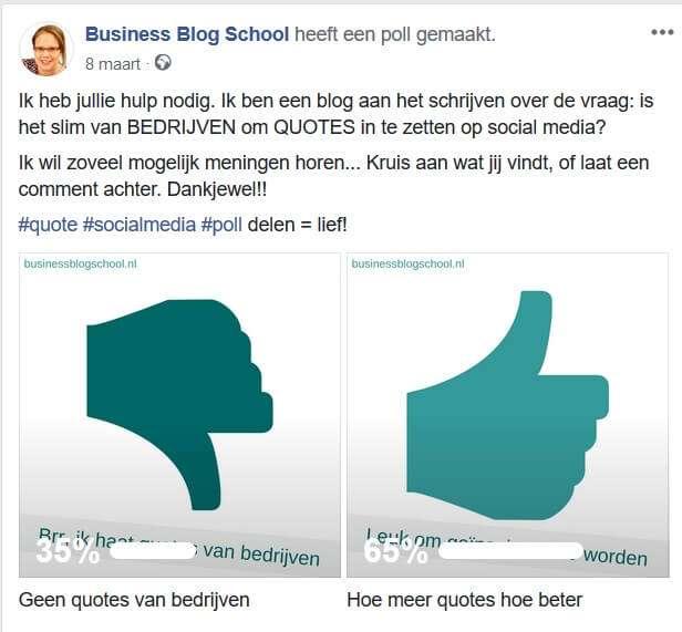 Social media quotes: mijn poll op Facebook